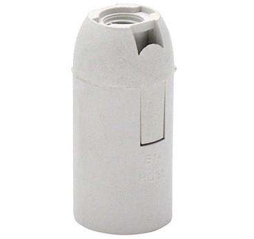 Патрон пластиковий Е14 белый