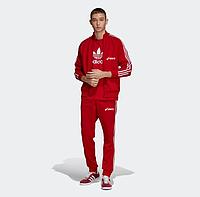 Спортивный костюм мужской Асикс, Asics, красный (в стиле)