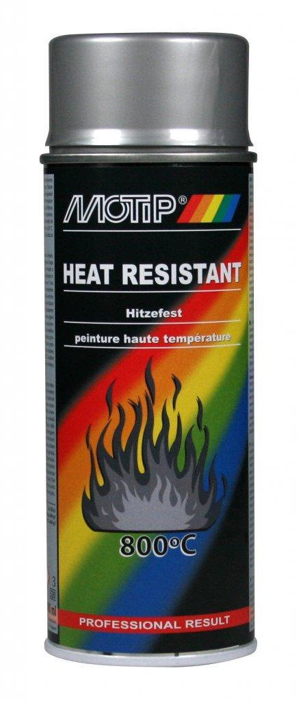 Эмаль термостойкая до 800°С Motip , 400 мл Аэрозоль Серебро
