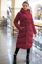 Удлиненный зимний пуховик Магнолия размер 48