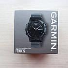 Смарт-годинник Garmin Fenix 5Black Sapphire with Black Band з чорним ремінцем, фото 2
