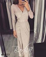 Женское вечернее блестящее длинное платье с люрексом Разные цвета