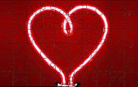 Магнітний пазл - Серце лампочка А5