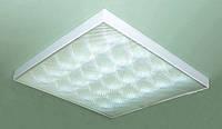 Административный накладной светодиодный светильник (СИД) LED, аналог люминисцентный ЛПО 4х18