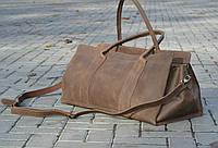 Мужская большая кожаная дорожная сумка через плечо ручной работы