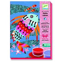 Художній комплект малювання кольоровим піском Djeco - Райдужні Рибки DJ08661
