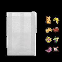 Бумажный пакет без ручек белый 240х120х50мм (ВхШхГ) 40г/м² 100шт (242)