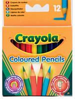 12 коротких кольорових олівців Crayola (4112)