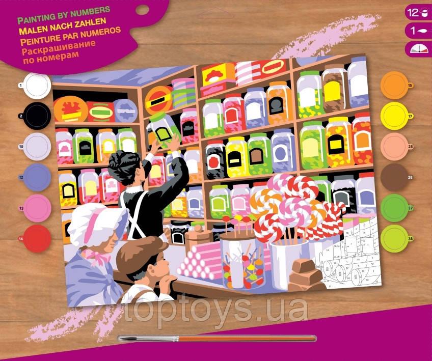 Набір для творчості Sequin Art Painting by Numbers  Senior Магазин солодощів SA1520