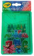 Набір Crayola PJ Masks з восковими олівцями і розмальовками (04-0440)