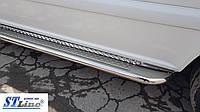 Hyundai Starex (H100) (98-06) боковые пороги подножки площадки на для Хендай Старекс Hyundai Starex (H100) (98-06) кор база d42х1,6мм