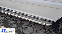 Hyundai Starex (H100) (98-06) боковые пороги подножки площадки на для Хендай Старекс Hyundai Starex (H100) (98-06) длин база d51х1,6мм