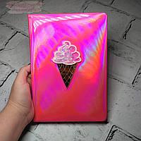 Блокнот хамелеон Мороженое, розовый