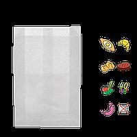 Бумажный пакет без ручек белый 220х140х50мм (ВхШхГ) 40г/м² 100шт (243)