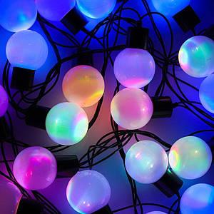 Гирлянда матовый шарик 40 LED, 5м (флеш)18 мм