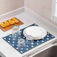 Абсорбирующее полотенце для посуды. Салфетка влаговпитывающая