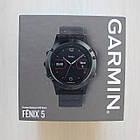 Смарт-годинник Garmin Fenix 5 Slate Gray with Black Band з чорним ремінцем, фото 3