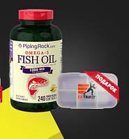 Витамины и минералы Piping Rock Omega-3 Fish Oil 1000 mg Lemon Flavor 240 cap