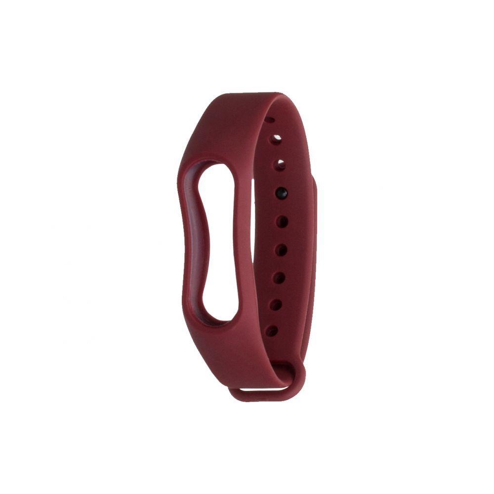 Ремешок для фитнес - трекера Xiaomi Mi Band 2 Бордовый