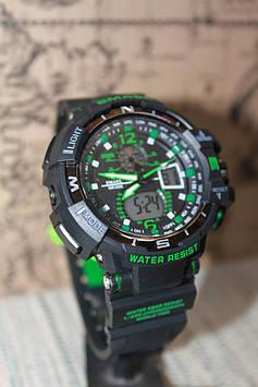 Годинники чоловічі Smael чорні з зеленим