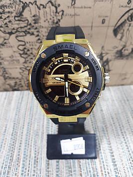 Чоловічі спортивні годинник Smael золотим великим корпусом