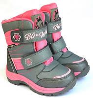 Термо ботинки зимние детские B&G HL209-811 для девочки 25р.