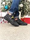 Мужские черные кроссовки Adidas Boost на меху, фото 3
