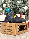 Мужские черные кроссовки Adidas Boost на меху, фото 7