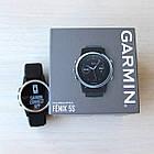Смарт-годинник Garmin Fenix 5S Silver with Black Band з чорним ремінцем, фото 7