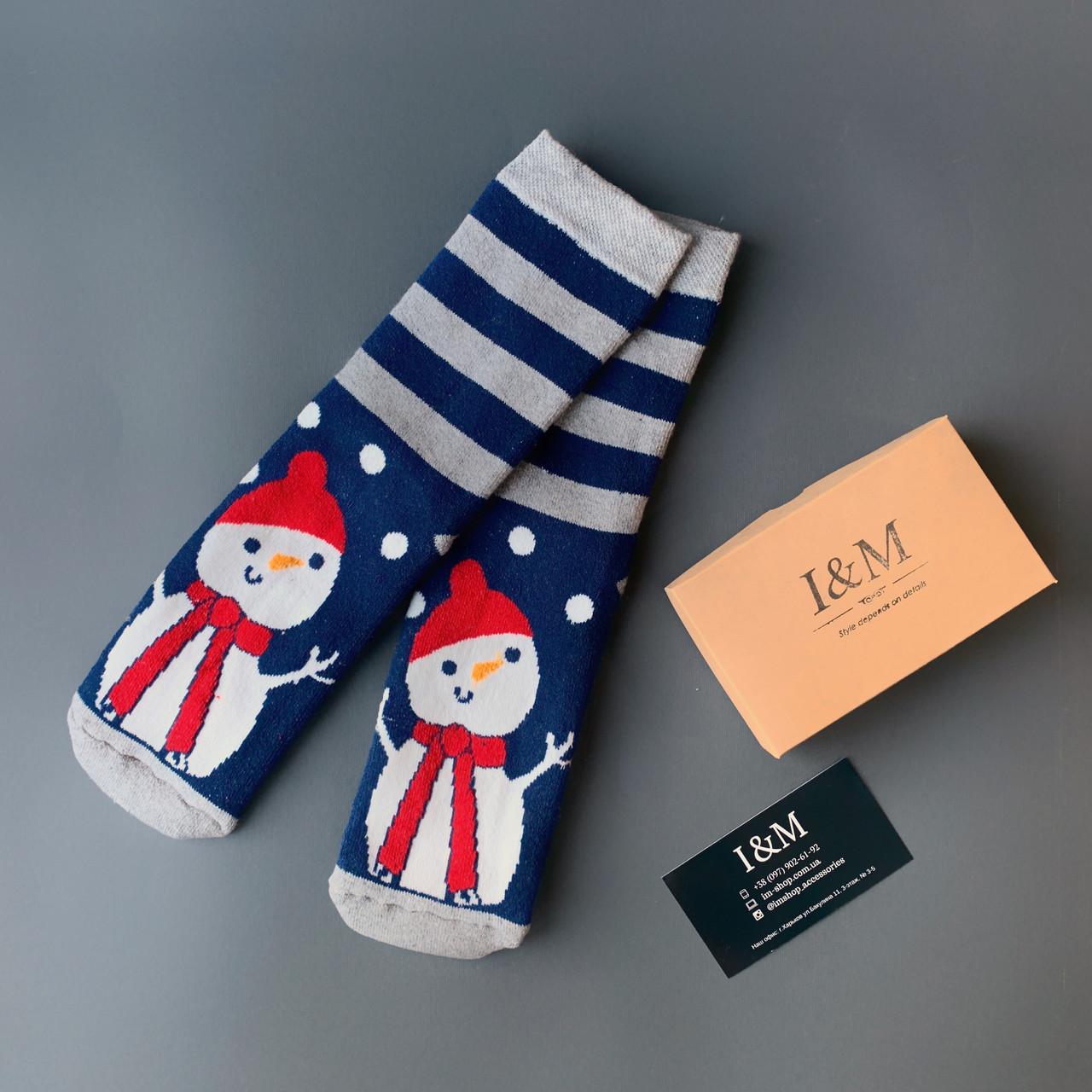 Шкарпетки жіночі I&M Craft новорічні зі сніговиком (0703459)
