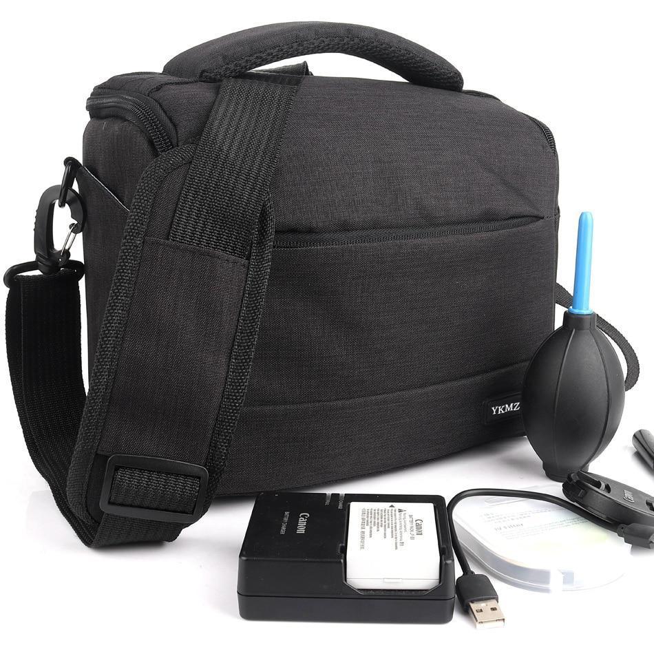Профессиональная сумка для фотографа  Fottos 26x13x19 см на плечо, компактная, удобная, темно серый