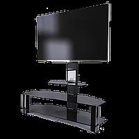 Тумба стеклянная под ТВ с кронштейном Престиж EVR Decor Bl (1250х400х1250), фото 1