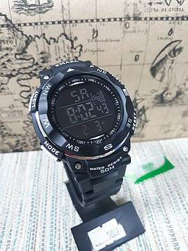 Чоловічі великі годинники Smael чорні з цифровим часом
