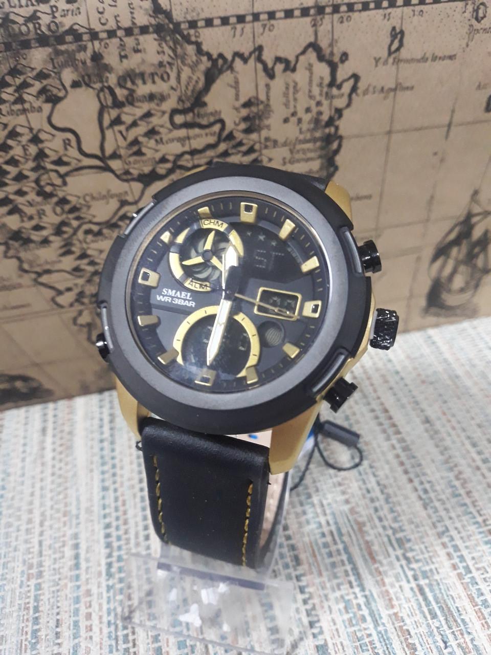 Часы для мужчин Smael на кожаном ремешке