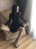 S-M Вечернее платье приталенного кроя с  верхом из сеточки в черном цвете, фото 6