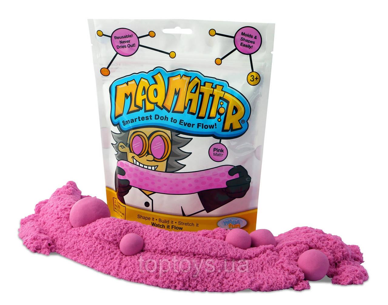 Нанокінетичний пісок Waba Fun Mad Mattr рожевий 283 г (210-400)