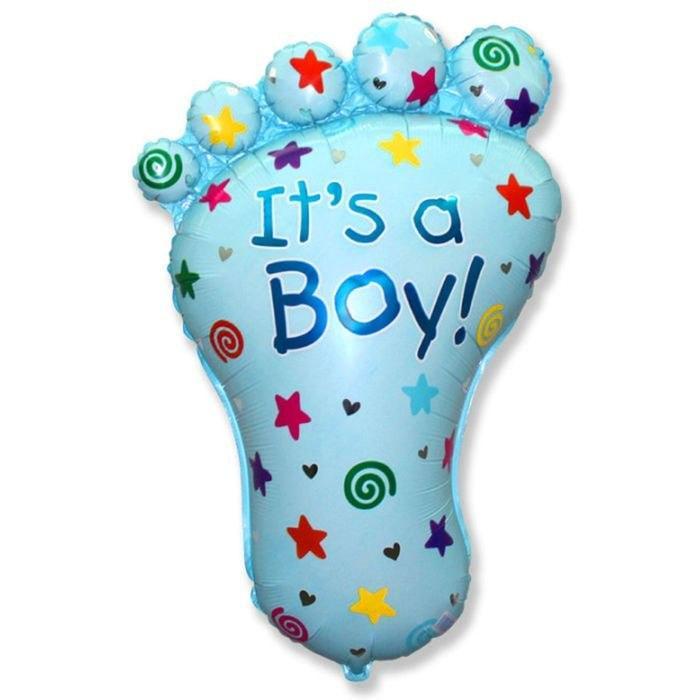 Повітряна кулька з фольги Ніжка малюка ( хлопчик ) 1344