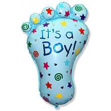 Воздушный шарик из фольги Ножка малыша ( мальчик ) 1344