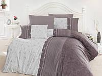 Постільна білизна First Choice Peitra Leylak Ranforce 200-220 см фіолетовий