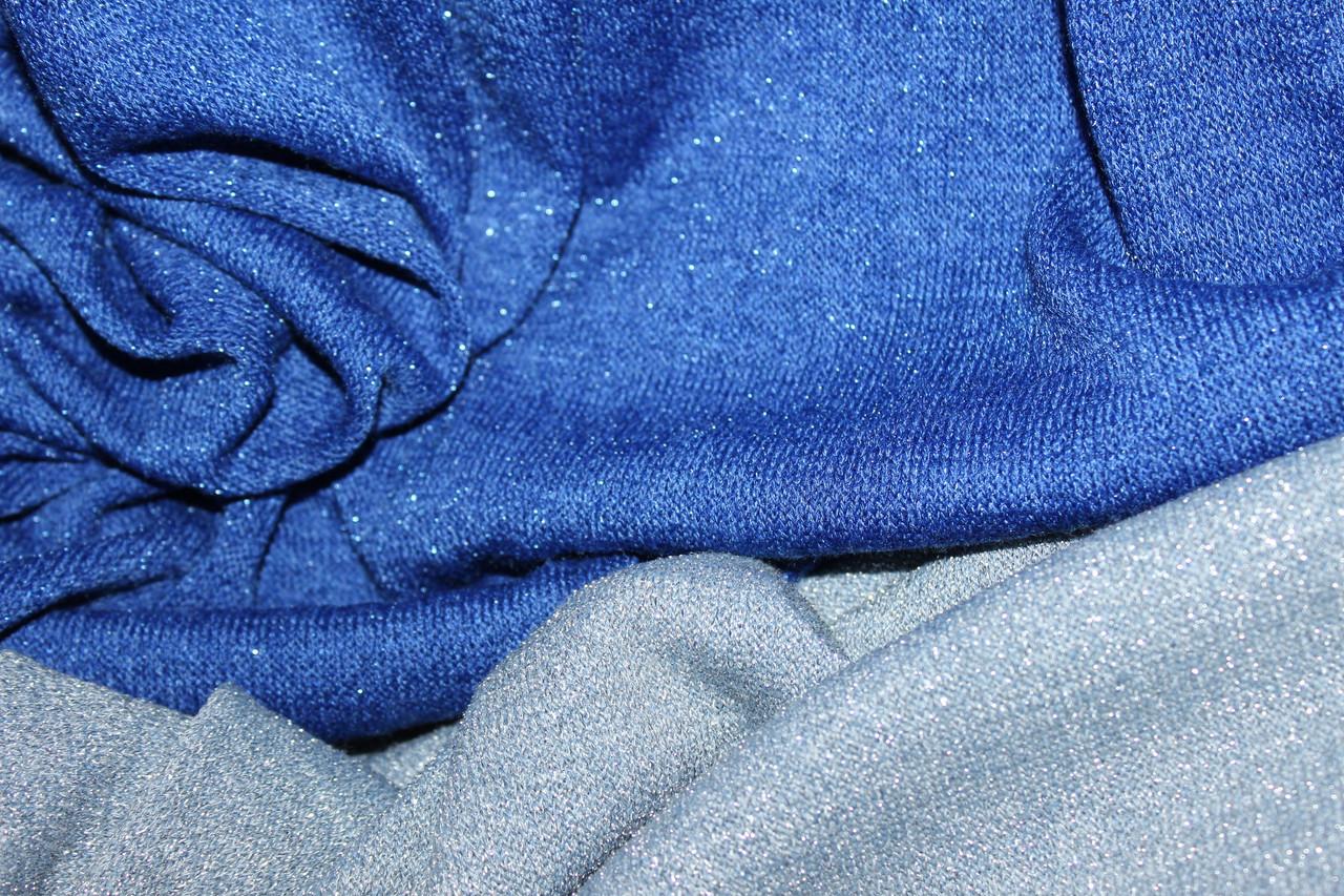 Синій. Ангора класична з люрексовою ниткою, не контрастна, легке сяйво., фото 1