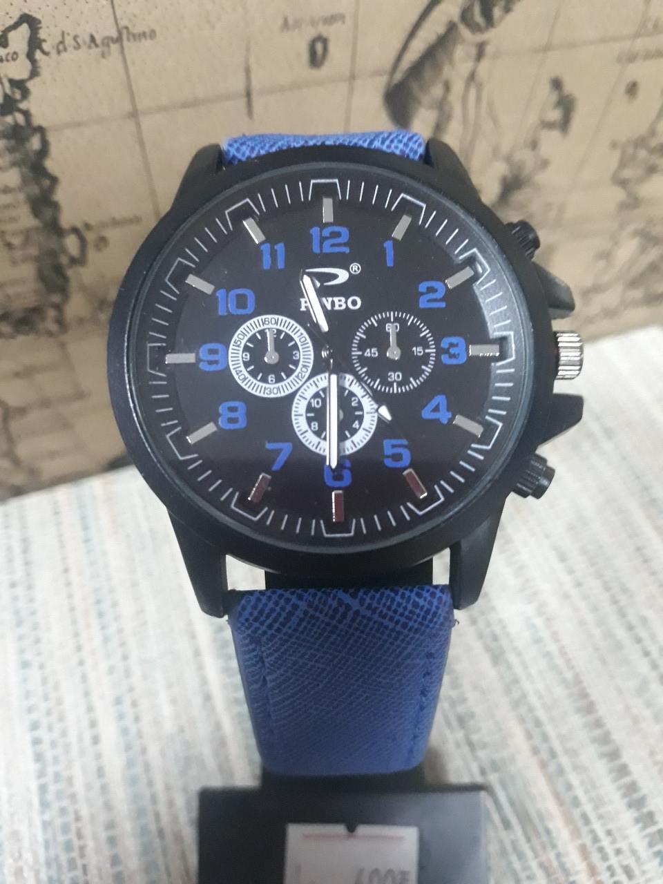 Мужские часы на синем ремешке