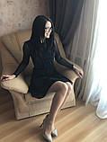 S-M Вечернее платье приталенного кроя с  верхом из сеточки в черном цвете, фото 7
