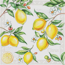 """Салфетки для декупажа """"Лимоны"""" 33*33 см №375"""