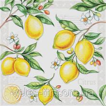 """Серветки для декупажу """"Лимони"""" 33*33 см №375"""