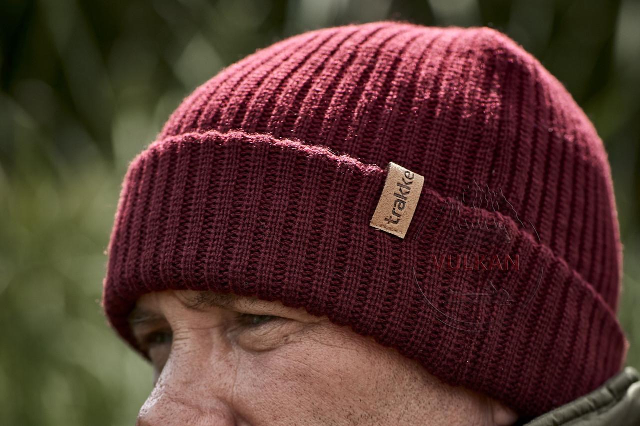 Фирменная мужская шапка Trakker Plum Beanie