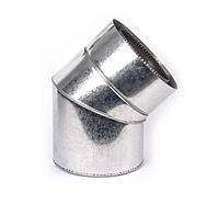 Колено 45° из нержавеющей стали с термоизоляцией нерж/оцинк