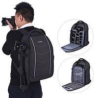 Andoer профессиональный рюкзак для фотографа 43x30x18 см серый  ноутбук 13 дюймов