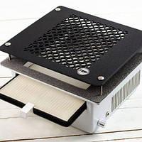 Мощная врезная вытяжка Teri Turbo с НЕРА фильтром и черной пластиковой сеткой
