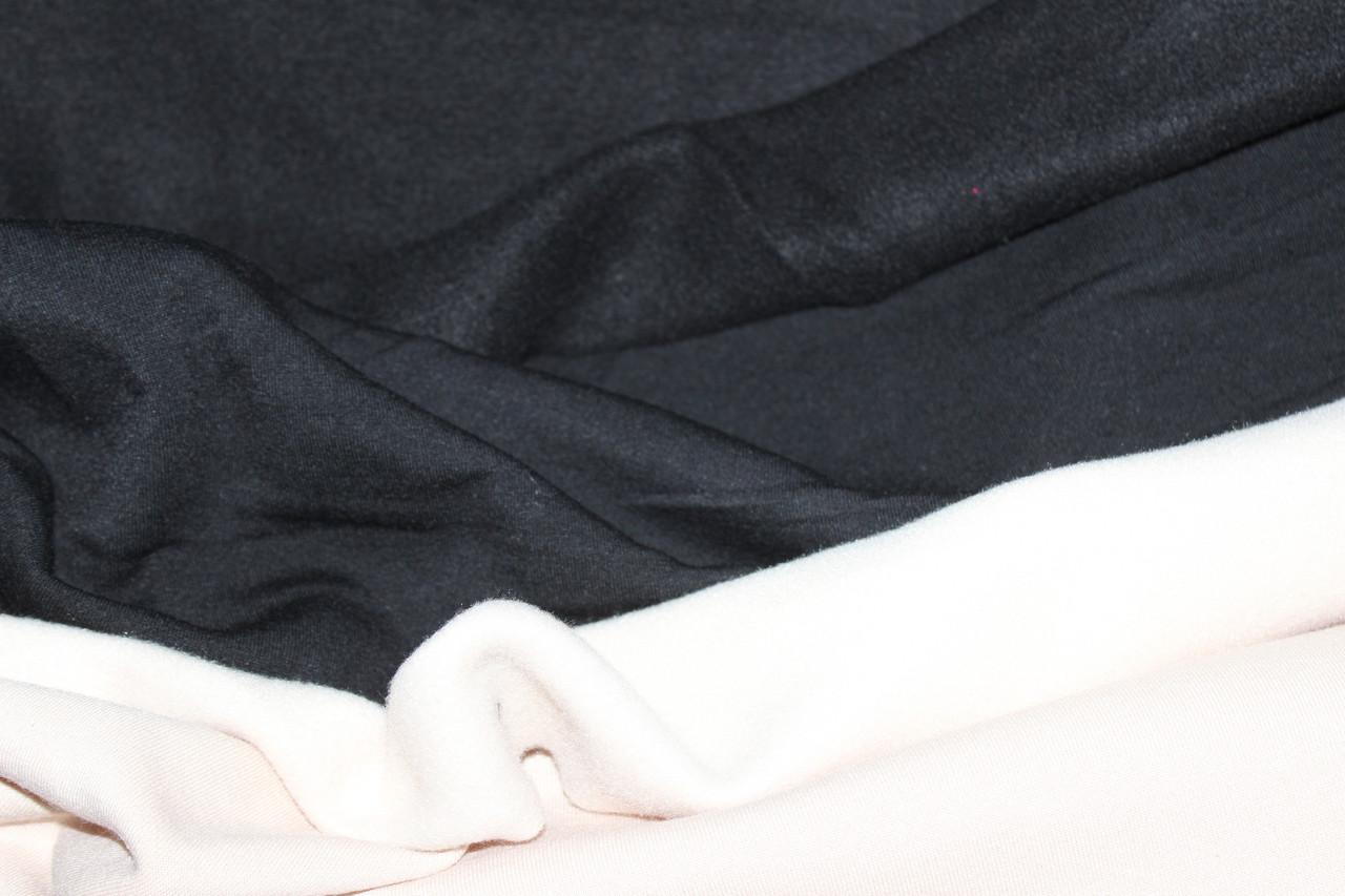 Черная. Трехнитка на флисе класика.1,85 ширина.