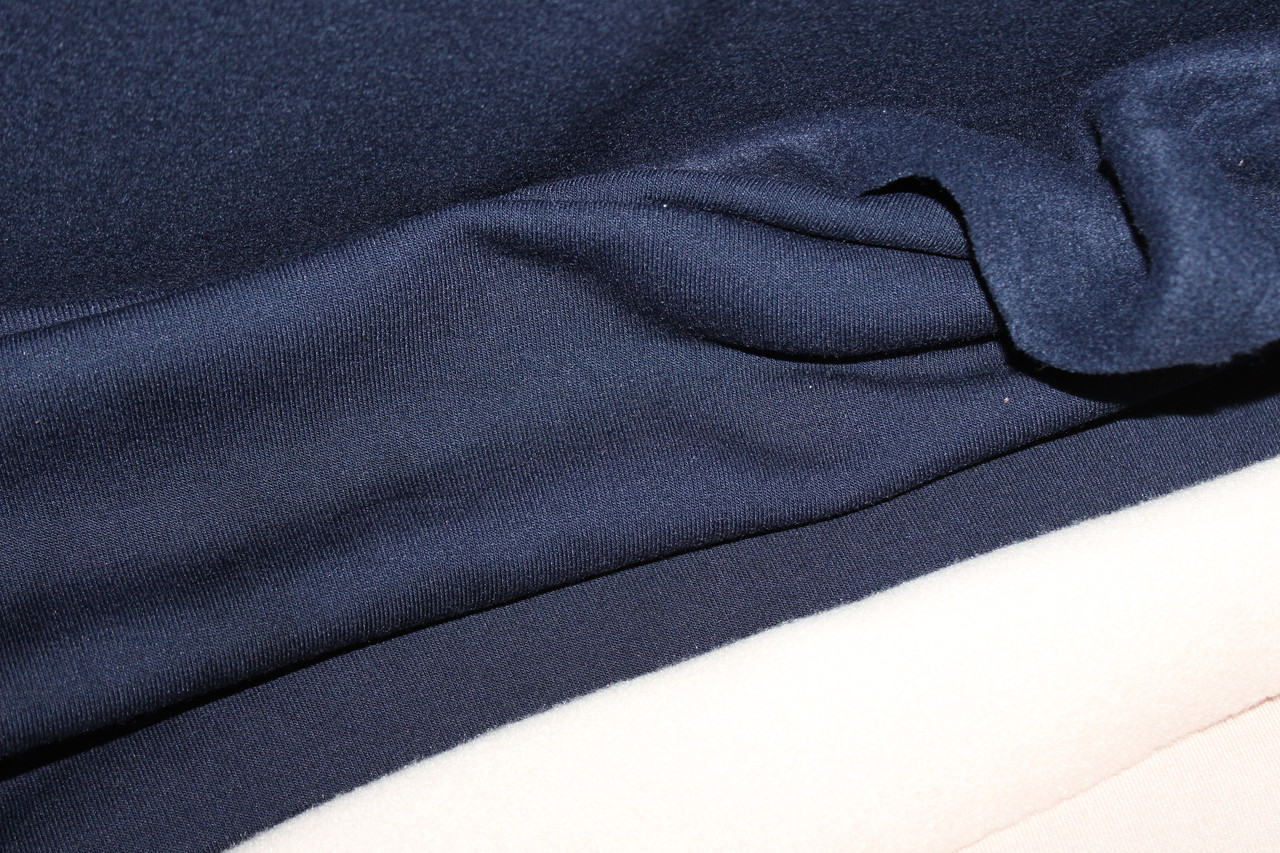 Темно синяя. Трехнитка на флисе класика.1,85 ширина.